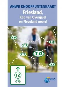 anwb knooppuntenkaart Friesland, Kop van Overijssel en Flevoland Noord