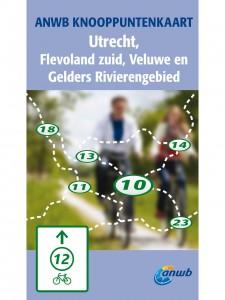 anwb knooppuntkaart utrecht, flevoland zuid, veluwe en gelderse rivieren