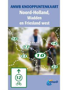 anwb knooppuntkaart noord-holland, wadden en friesland west