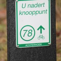 Bewegwijzering fietsknooppuntennetwerk in de Achterhoek